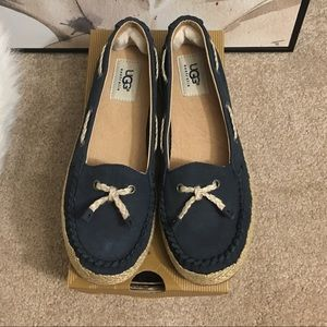 NEW UGG Australia Sz 6 Leather slip on loafers